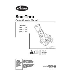 ariens sno thro 938019 522 specifications [ 791 x 1024 Pixel ]