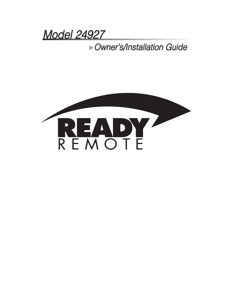 ready remote 24927 wiring diagram 1998 ford contour svt installation guide manualzz com