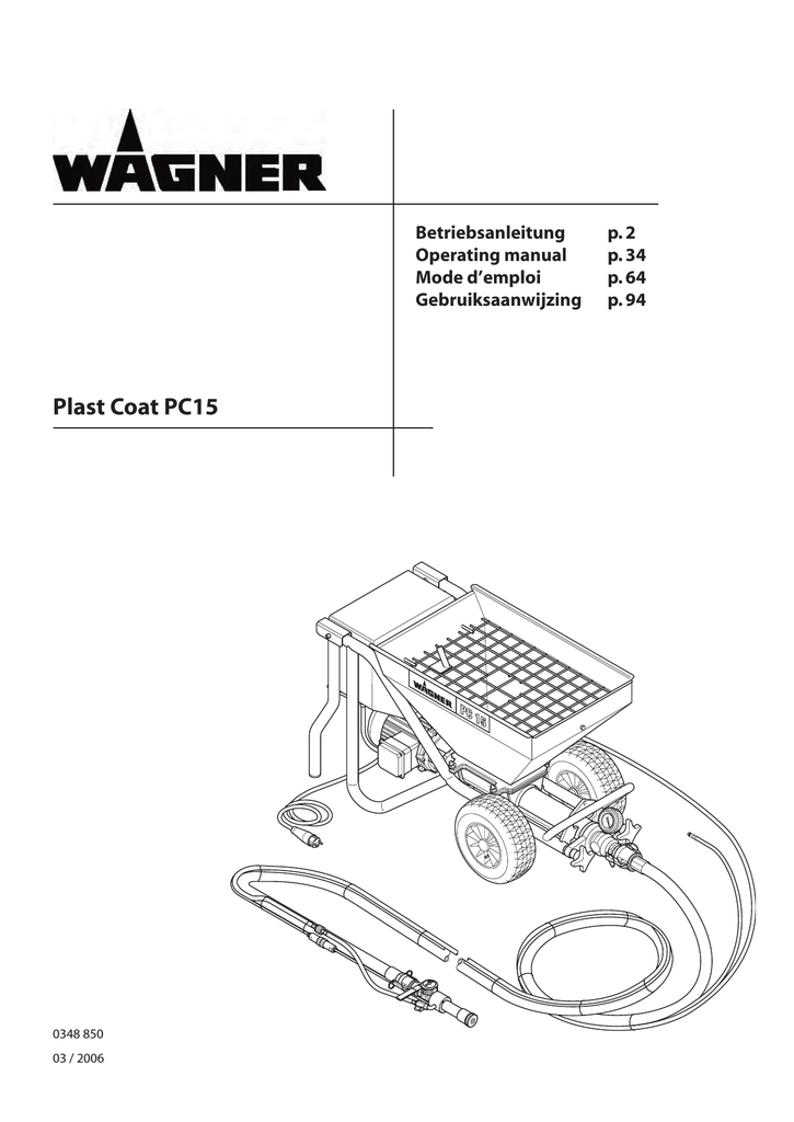 WAGNER PC 15 Technical data