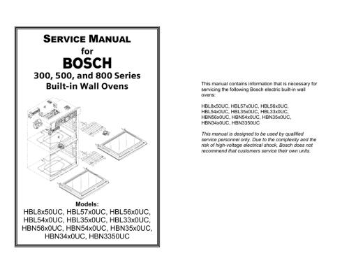small resolution of bosch hbl56 service manual