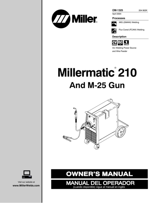 small resolution of miller electric hwy 210 owner s manual