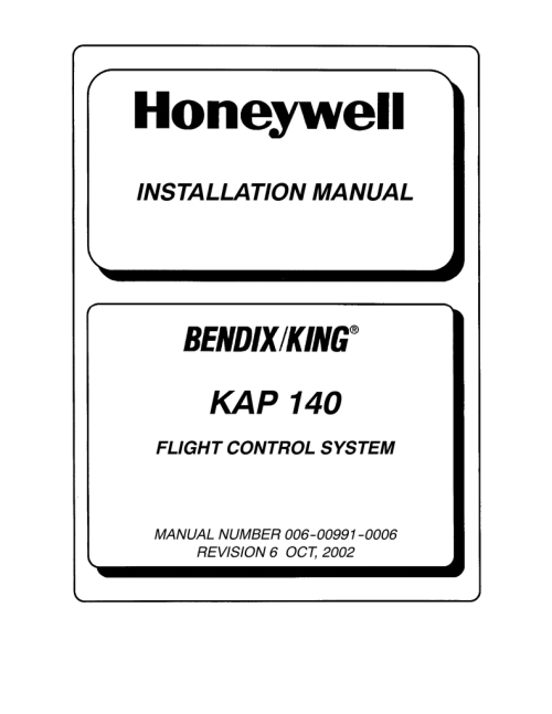 small resolution of alliedsignal kap 140 installation manual