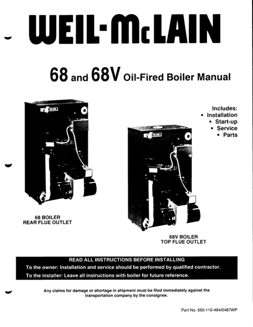 small resolution of 68 and 68v oil fired boiler manual