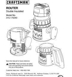 craftsman 315 175340 operator s manual [ 788 x 1024 Pixel ]