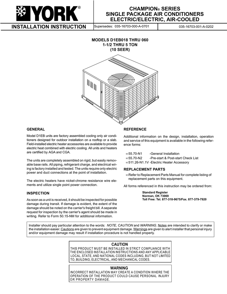 hight resolution of io d1eb018 060 k 1 5 5 ton 10 seer installation instruction champion