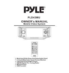 pyle audio mobile video system pld41mut owner s manual [ 791 x 1024 Pixel ]