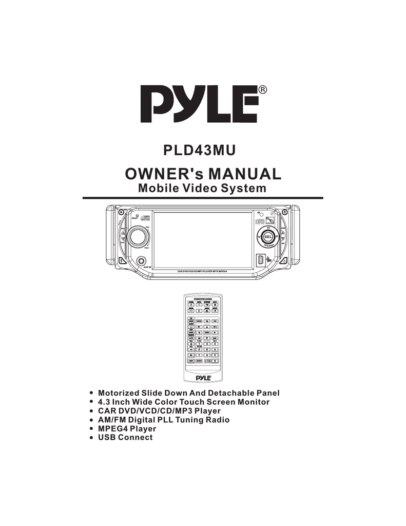 hight resolution of pyle audio mobile video system pld41mut owner s manual
