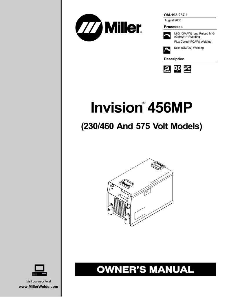 hight resolution of miller electric invision 456mp owner s manual manualzz com miller tig welding miller maxstar 200 wiring diagram