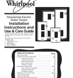 whirlpool e2f40ld045 installation manual whi l water ol tm heaters residential electric  [ 791 x 1024 Pixel ]