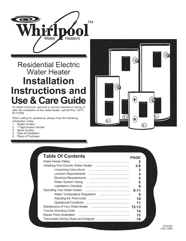 hight resolution of whirlpool e2f40ld045 installation manual whi l water ol tm heaters residential electric