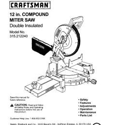 craftsman 12 in compound miter saw 315 21222 operator s manual [ 792 x 1024 Pixel ]