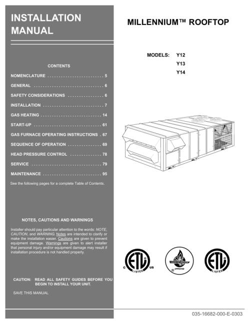 small resolution of york millennium y14 installation manual manualzz com