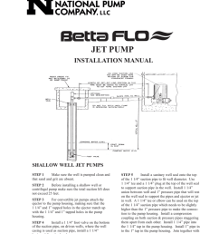 wayne jet pump water systems shallow well installation manual [ 791 x 1024 Pixel ]
