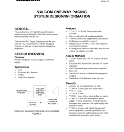 valcom one way paging system design information general [ 791 x 1024 Pixel ]