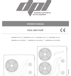 dpl pool equipment 100 hpra 410 owner s manual [ 791 x 1024 Pixel ]
