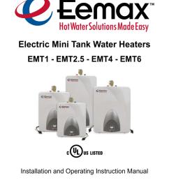 eemax emt6 instruction manual [ 791 x 1024 Pixel ]