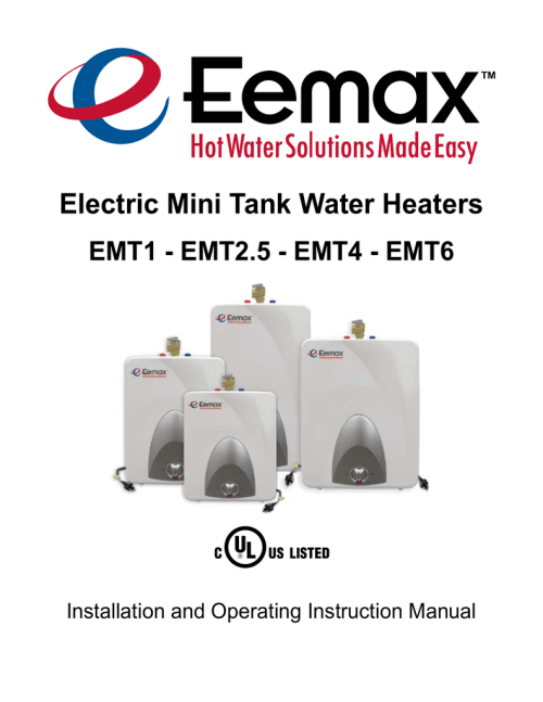 small resolution of eemax emt6 instruction manual