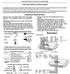 directed electronics autocommand 40027t installation manual remote car starter installation  [ 791 x 1024 Pixel ]