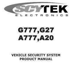 scytek electronic a20 product manual [ 791 x 1024 Pixel ]