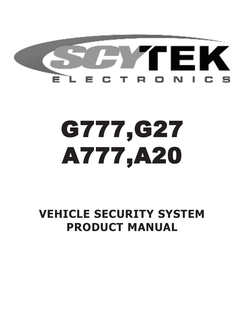 hight resolution of scytek electronic a20 product manual