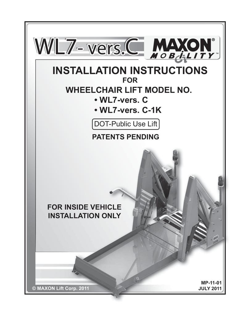 medium resolution of maxon wl7 vers c operator s manual installation instructions