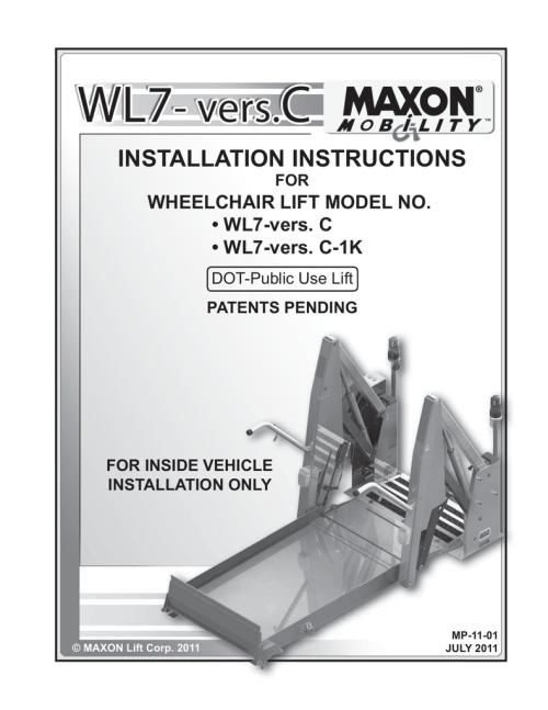 small resolution of maxon wl7 vers c operator s manual installation instructions