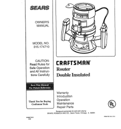 wiring diagram for craftsman router wiring diagram article review craftsman 315 174710 owner s manual [ 804 x 1024 Pixel ]