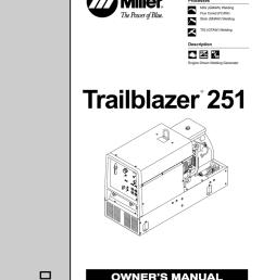miller trailblazer 251 owner s manual [ 791 x 1024 Pixel ]