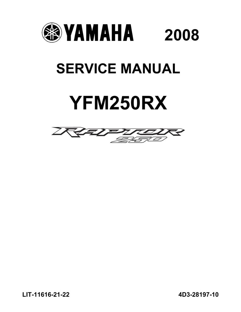 hight resolution of yamaha raptor 250 service manual