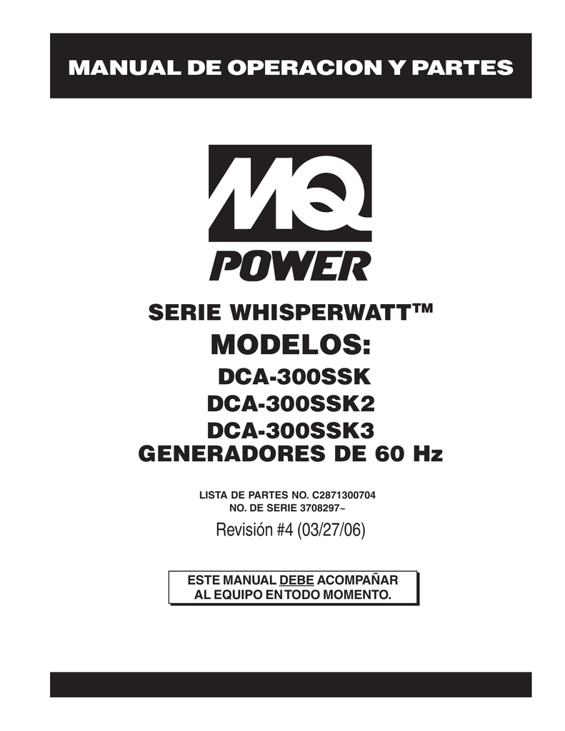 MQ Power DCA300SSK Super-Silent Generators 150-800 kVA
