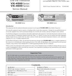 vertex standard vx 4600 series service manual [ 791 x 1024 Pixel ]