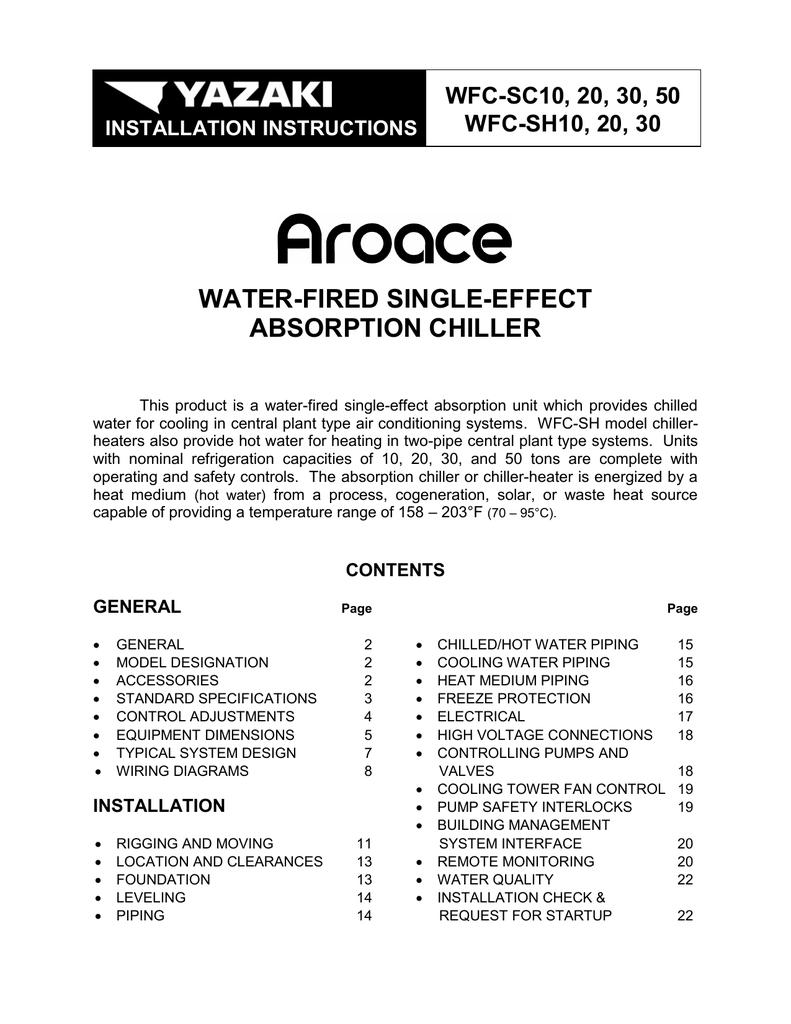 hight resolution of yazaki aroace wfc sh30 specifications