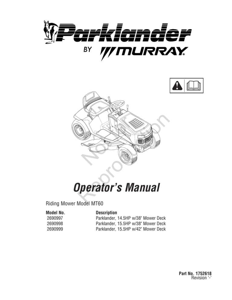 Murray Mower Owners Manual