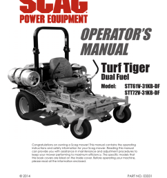 scag power equipment turf tiger stt61v 31kb df operator s manual manualzz com [ 791 x 1024 Pixel ]