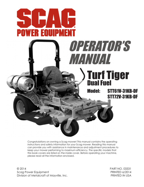 small resolution of scag power equipment turf tiger stt61v 31kb df operator s manual manualzz com