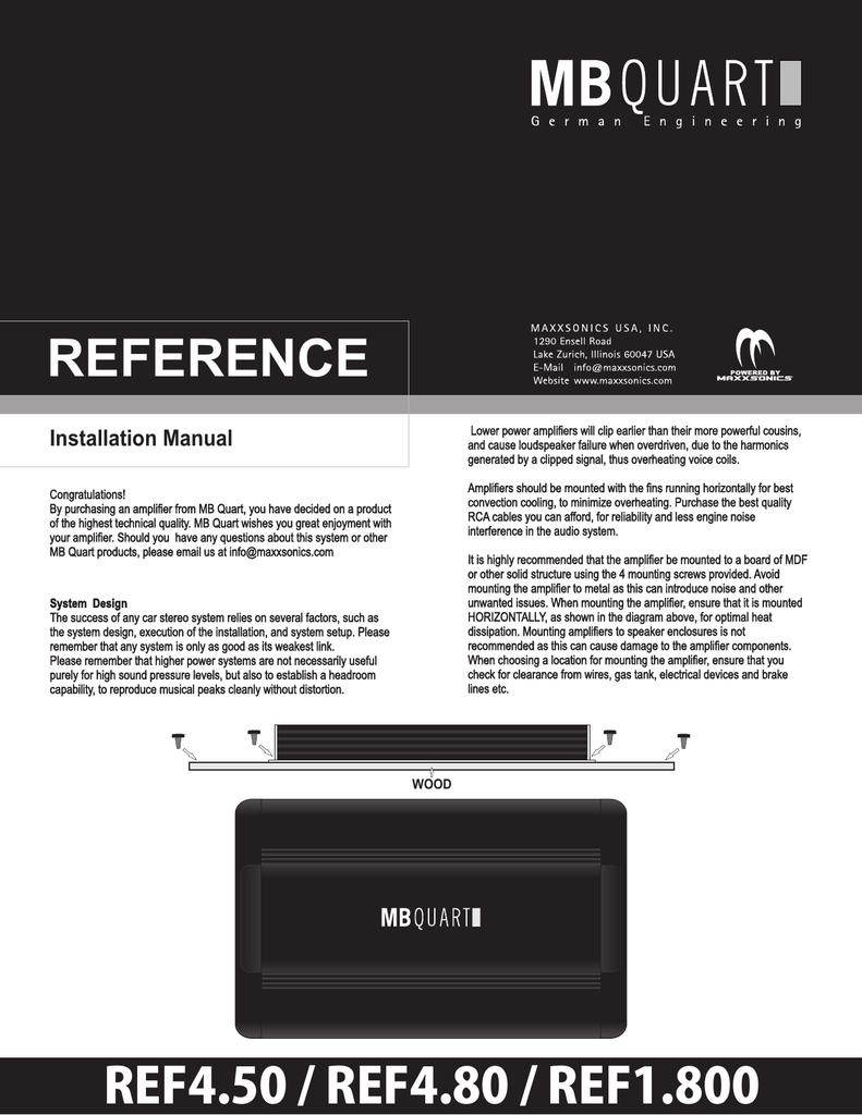 medium resolution of mb quart ref4 80 installation manual