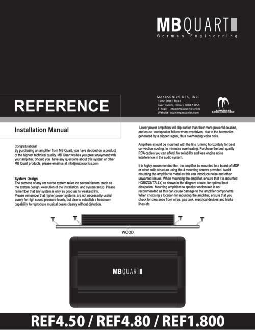 small resolution of mb quart ref4 80 installation manual