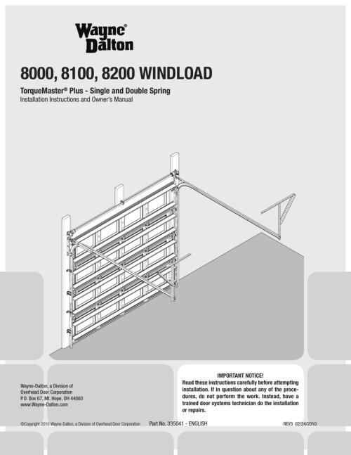 small resolution of wayne dalton 8000 series owner s manual