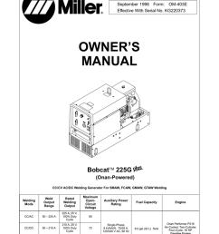 miller electric bobcat 225g owner s manual [ 791 x 1024 Pixel ]
