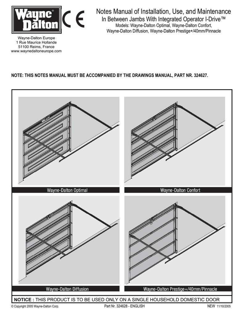 medium resolution of wayne dalton prestige 40mm pinnacle specifications