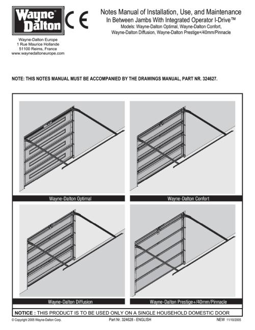 small resolution of wayne dalton prestige 40mm pinnacle specifications