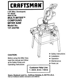 craftsman 137 242760 operator s manual [ 788 x 1024 Pixel ]