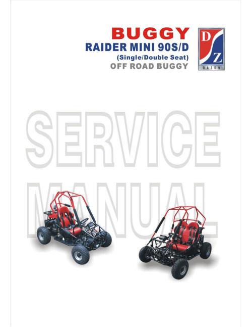 small resolution of dazon raider mini 90d service manual
