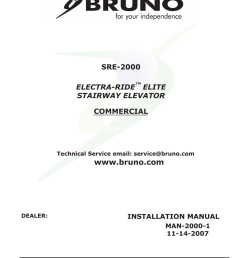 bruno sre 2700 installation manual [ 791 x 1024 Pixel ]