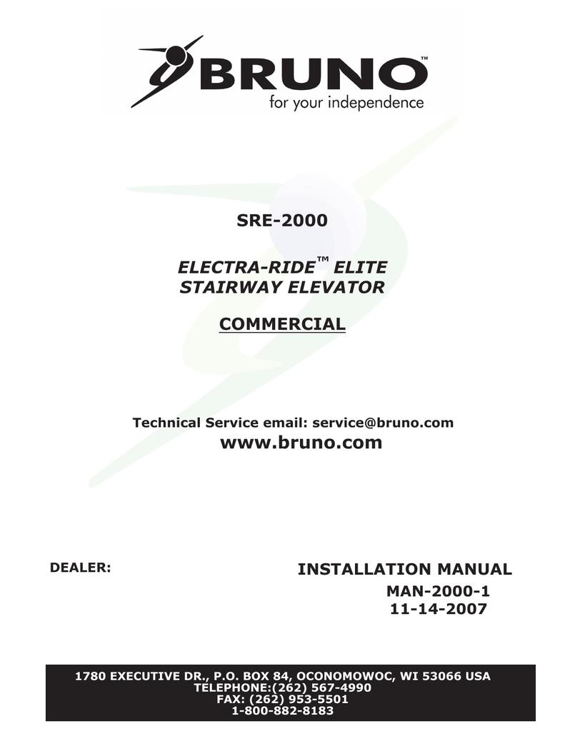 medium resolution of bruno sre 2700 installation manual