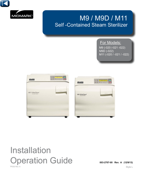 small resolution of midmark m11 specifications manualzz com midmark autoclave m11 wiring diagram
