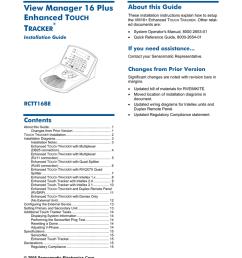 american dynamics rctt16be operator s manual [ 791 x 1024 Pixel ]