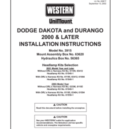 dodge 2000 durango owner s manual manualzz com on western plow harness western unimount wiring harness on western plow harness  [ 791 x 1024 Pixel ]