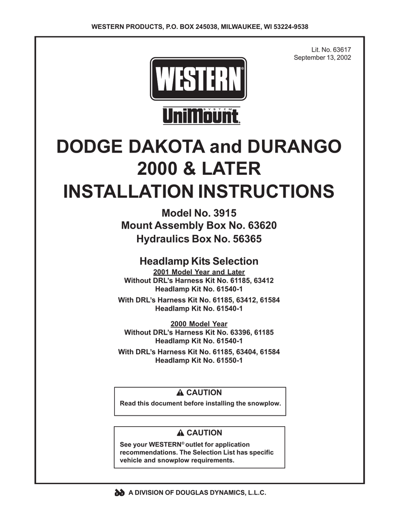 medium resolution of dodge 2000 durango owner s manual manualzz com on western plow harness western unimount wiring harness on western plow harness