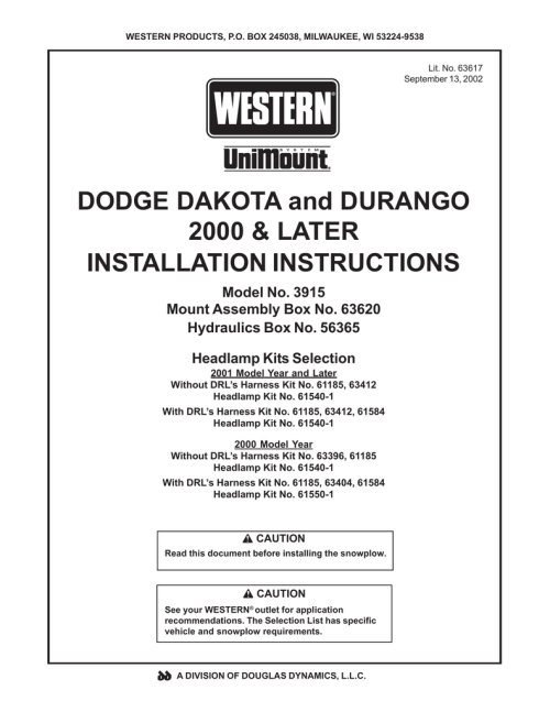 small resolution of dodge 2000 durango owner s manual manualzz com on western plow harness western unimount wiring harness on western plow harness
